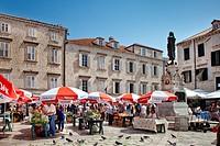 Market, old town, Dubrovnik, Dalmatia, Croatia