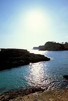 Coastal landscape, Cala s´Amonia, Majorca, Spain