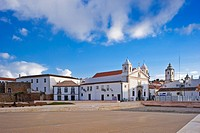 City view with the church Igreja Santa Maria, Lagos, Algarve, Portugal, Europe