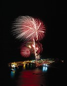 Fireworks, Puerto de las Nieves, Gran Canaria, Canary Islands, Spain