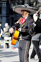 Mariachis playing in the Puerta del Sol, Madrid, Spain