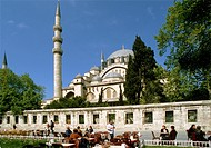 Turkey, Istanbul, Mosque of Sultan Suleyman the Magnificent,