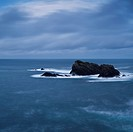 Coastal rocks in stormy sea, Butt of Lewis, Isle of Lewis, Scotland