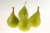 Fruits , four Pear Pyrus Commiunis on white background