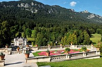 Germany, Bavaria, Graswangtal, Linderhof Castle, built from 1874 to 1878 he belonged to King Ludwig II of Bavaria