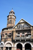 Arthur Crawford municipal market erected in 1868 on initiative of Arthur traverse Crawford c.m.g. I.c.s. municipal commissioner of Bombay Mumbai , Mah...