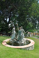 Caribbean, St. Thomas, USVI, US Virgin Islands, Charlotte Amalie, statue, memorial, art, sculpture