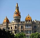 Teatre Tivoli theatre, and Hotel Barcelona, Plaza de Catalunya Catalonia square, Barcelona, Catalonia, Spain, Europe