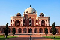 Humayuns tomb built in 1570 , Delhi, India UNESCO World Heritage Site