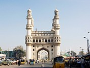 Charminar monument , Hyderabad , Andhra Pradesh , India