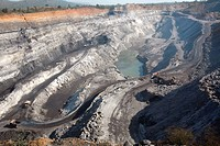 Overview of Coal mine in Jharkhand , India