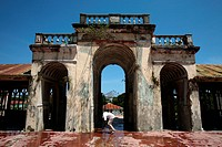 The old colonial market in the Old Town of Baucau on the north coast of the east Timor with Tutuala, the east Timor.