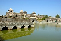 Jahaz Mahal , Mandu , District Dhar , Madhya Pradesh , India