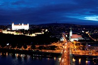 The castle of castle Press about the Old Town of Bratislava of the Hauptown of Slovakia.