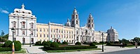 Mafra Royal Palace and Convent in Portugal  Baroque masterpiece  Belonged to the Franciscan order  Mafra, Lisbon district, Portugal