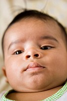 South Asian Indian Baby in close_up , Bombay now Mumbai , Maharashtra , India MR706L