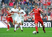Miroslav Klose, FC Bayern Munich, on the ball, Allianz Arena, Munich, Bavaria, Germany, Europe