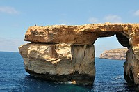 Azure Window in Dwejra bay, Malta, Gozo, island of Calypso nymph