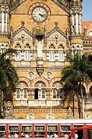 Victoria Terminus VT named Chhatrapati Shivaji Terminus Station CST , Bombay Mumbai , Maharashtra , India