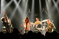 American actress and musician Juliette Lewis with her band The Licks live in the Schueuer, Lucerne, Switzerland