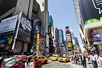 street view of Time Square, New York, USA