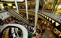 Quartier 206 by architect Henry Cobb, interior, luxury shopping in the Friedrichstadtpassagen mall, Friedrichstrasse 71-74, Mitte district, Berlin, Ge...