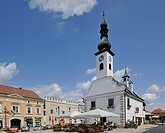Schranne old town hall, main square of Gmuend, Waldviertel region, Lower Austria, Austria, Europe