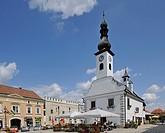 Schranne old town hall, main square of Gmuend, Waldviertel region, Lower Austria, Austria, Europe