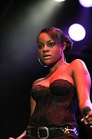 Keisha Buchanan, singer of the British girl band Sugababes live at the Heitere Open Air in Zofingen, Aargau, Switzerland