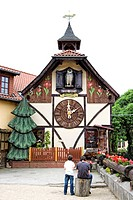 The largest cuckoo clock in the world, Gernrode, Harz, Saxony-Anhalt, Germany, Europe