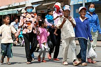 People at Water Festival, Phnom Penh, Cambodia