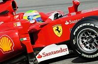 Felipe MASSA, BRA, in the Ferrari F10 race car during Formula 1 tests on the Circuit de Catalunya racetrack, Spain, Europe, 26.2.2010