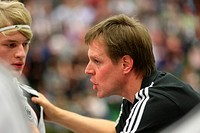 The coach for the German handball junior national league, Martin Heuberger, Muelheim-Kaerlich, Rhineland-Palatinate, Germany, Europe