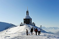 Wallbergkircherl chapel, Mt. Wallenberg, Bavarian Alps, Upper Bavaria, Bavaria, Germany, Europe