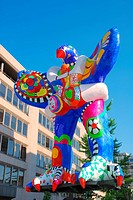 Lifesaver fountain by Niki de Saint Phalle and Jean Tinguely, King Street, Duisburg, Nordrhein_Westfalen, Germany