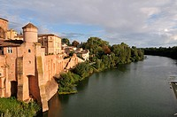 Abbey Saint Michel and Tarn river, Gaillac, Tarn, France