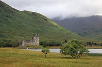 Ruins of Kilchurn Castle, on Loch Awe, Scotland, United Kingdom, Europe