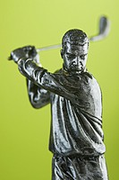 Studio shot of a golfing trophy