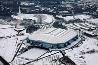 Aerial photo, SchalkeArena VeltinsArena, Gelsenkirchen, Ruhr Area, North Rhine_Westphalia, Germany, Europe