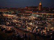 Open Air Market at Night, Marrakech, Morocco