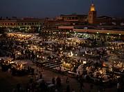 Open Air Market at Night, Marrakech, Morocco