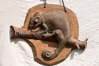 Clay chameleon, relief