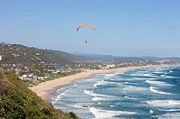 Paragliders over Wilderness, Eastern Cape Province, South Africa