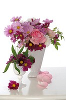 Bunch of flowers in vase