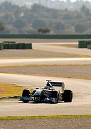 Nico Rosberg, GER, test driving the Mercedes MGP W01 during Formula 1 test driving in Valencia, Spain, Europe