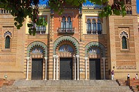 Museum of Popular Arts and Customs Mudejar Pavilion in Maria Luisa Park, Seville, Andalusia, Spain, Europe