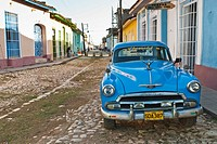 Old car on the streets of Trinidad, Sancti Spiritus, Cuba