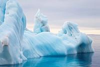 iceberg drifting in Arctic Sea, Spitsbergen, Svalbard