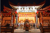 Thien Hau Temple, a Taoist Temple in Chinatown of Los Angeles.