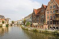 Cityscape, Groetenmarkt, Ghent, Flanders, Belgium, Europe